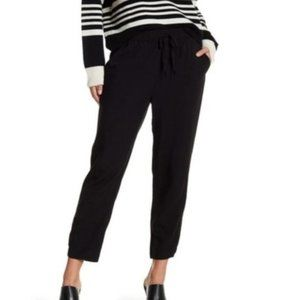 Madewell Drawstring Track Trousers in True Black